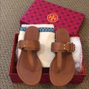 Tory Burch marsden flat thong sandal 9.5 NEW